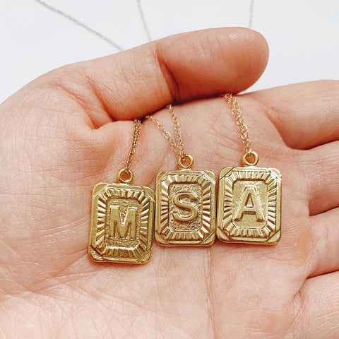 Gold Initial Pendants