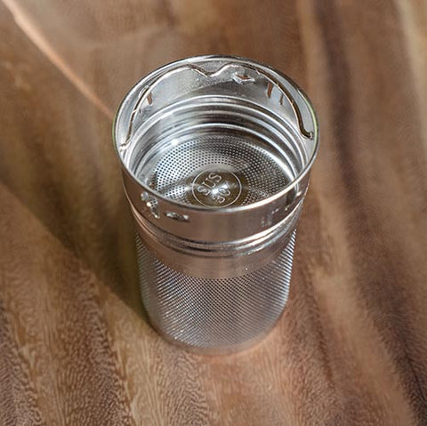 Tea bottle steeper insert