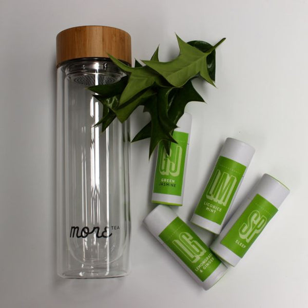 Glass Tea Bottle 450ml & Sample