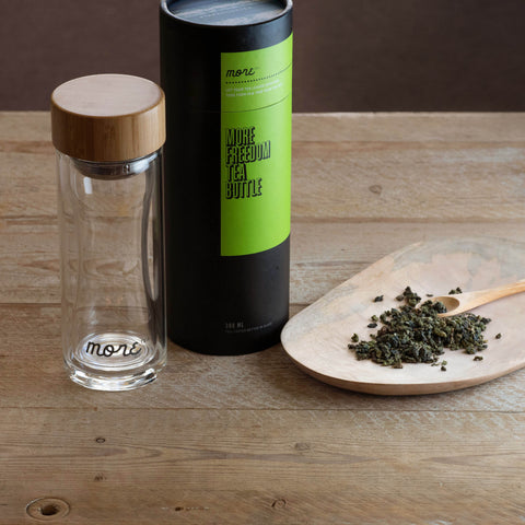 Glass tea bottle 300ml & Oolong/ Green tea pack