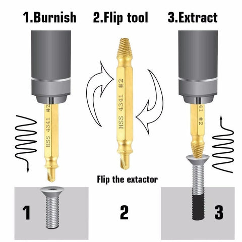Scrap Bit™️- Screw Extractor Set
