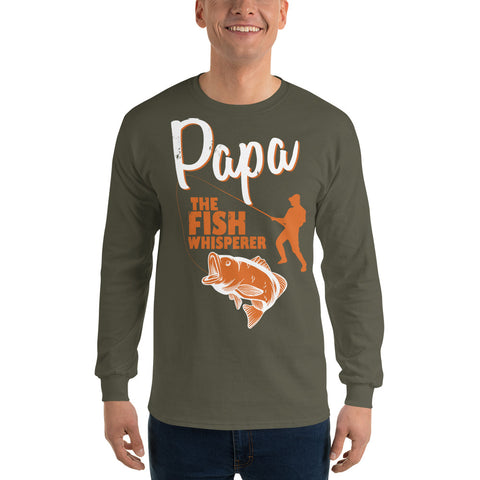 Image of Papa The Fish Whisperer Long Sleeve T-Shirt