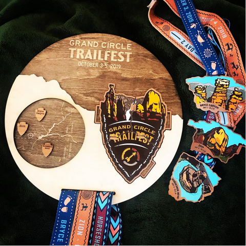 Trailfest Finisher Medal Display