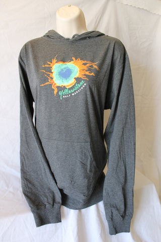 Yellowstone Half Grand Prismatic Spring - Beach Hoodie