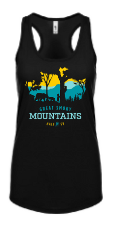 Great Smoky Mountains Peek-a-Boo Trees Women' Tank