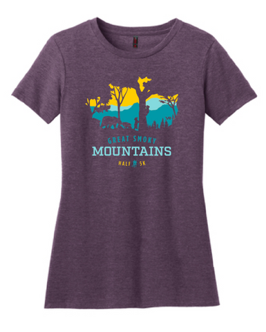 Great Smoky Mountains Peek-a-Boo Trees Women's T-Shirt