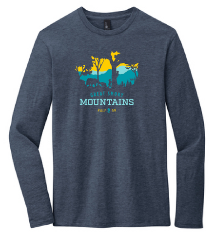 Great Smoky Mountains Peek-a-Boo Trees Women's Long Sleeve T-Shirt