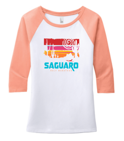 Saguaro Half Marathon Road Runner Baseball Tee (Men's and Women's)