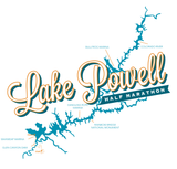 Lake Powell Map-Beach Hoodie