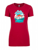Rocky Mountain Half Sunset T-Shirt-Women's