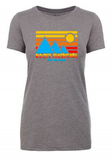 Rocky Mountain Half Retro Blue Mountain Women's T-Shirt