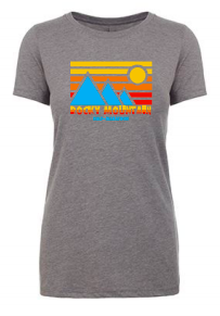 Rocky Mountain Half Retro Blue Mountain Women's TShirt