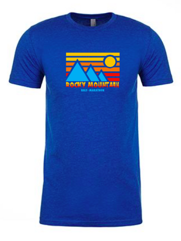 Rocky Mountain half Retro Blue Mountain Men's T-Shirt