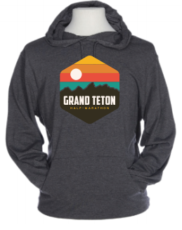 Grand Teton Hexagon Rainbow Beach Hoodie