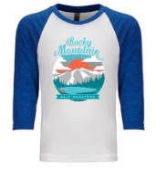 Rocky Mountain Sunset YOUTH 3/4 Sleeve Raglan Shirt