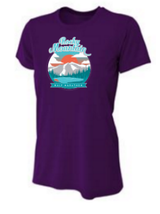 Rocky Mountain Sunset Women's Short Sleeve Tech Shirt