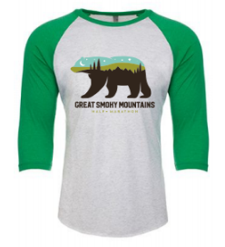 Great Smoky Mountain Bear Raglan Tee