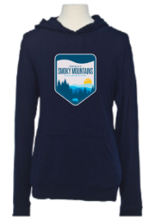 Great Smoky Mountain Sunset Badge Beach Hoodie