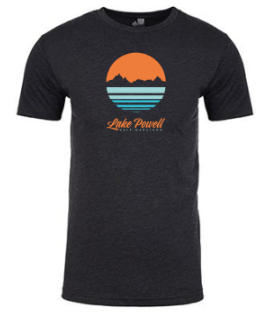 Lake Powell Circle Sunset Men's T-Shirt