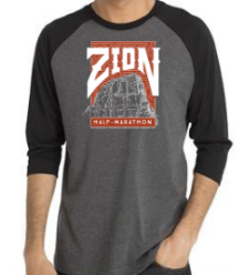 Zion Angels Landing Baseball T-Shirt