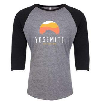 Yosemite Half Dome Baseball Shirt