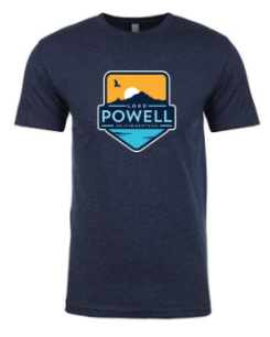 Lake Powell Bird and Sun Badge Men's T-Shirt