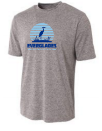 Everglades Great Heron Men's Short Sleeve Tech Shirt