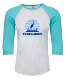 Everglades Great Heron Raglan Baseball Shirt
