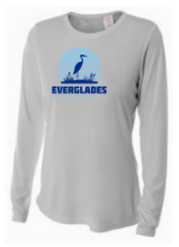 Everglades Great Heron Women's Long Sleeve Tech Shirt