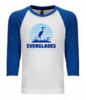 Everglades Great Heron YOUTH Raglan Shirt