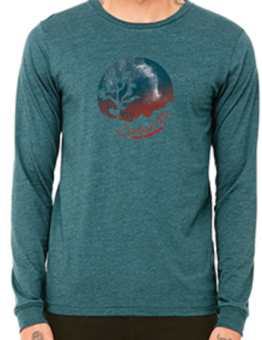 Joshua Tree Galaxy- Long Sleeve Men's T-Shirt