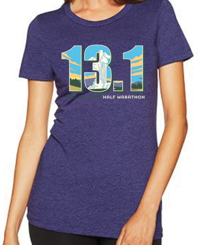 Yellowstone Half 13.1 Old Faithful - Women's T-Shirt