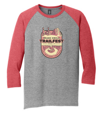 Grand Circle Trailfest Badge Design - Raglan T-Shirt