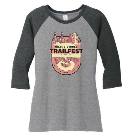 Grand Circle Trailfest Patch Design - Raglan T-Shirt