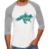 "Fox ""Let's Run Away into the Mountains"" Baseball Tee"