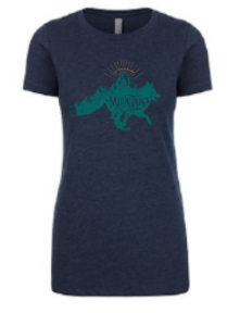 "Fox ""Let's Run Away into the Mountains"" Women's T-Shirt"