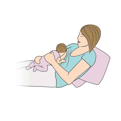 Breastfeeding Mother in a Laid Back position