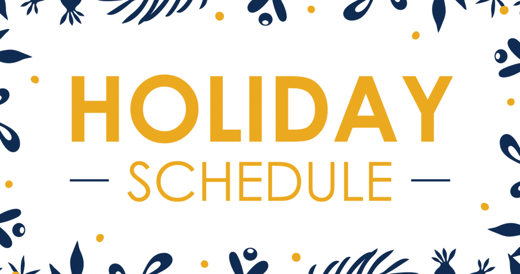 Update: Holiday Hours