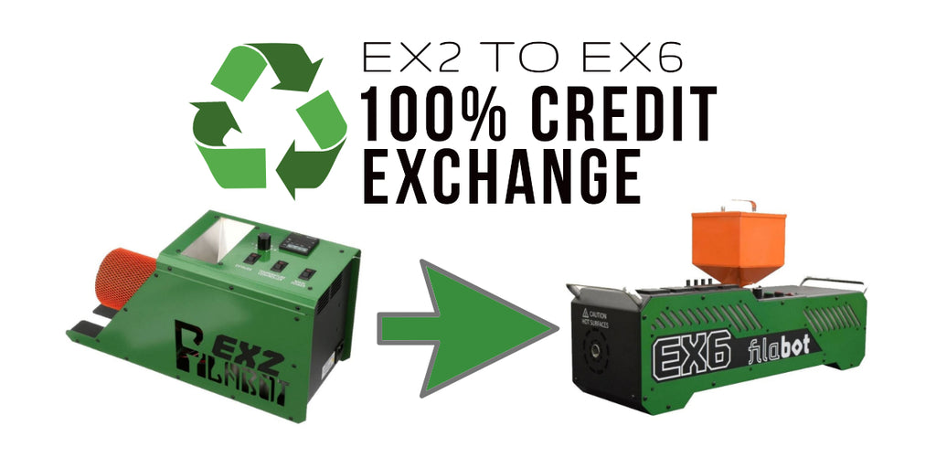 Filabot EX2 to EX6 100% Credit Exchange Program