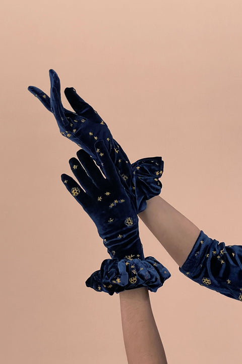 Celestial Gloves with Ruffles