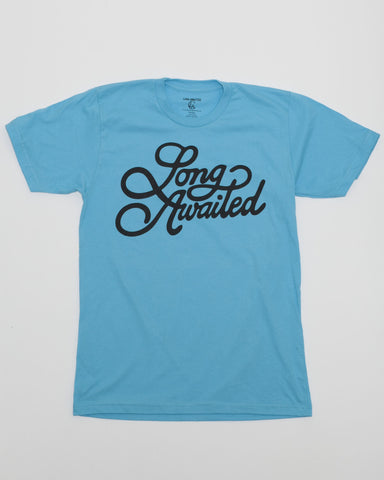 Signature Tee in Blue and Black