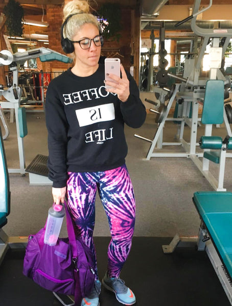 Tie Dye Push Pull Grind  Leggings