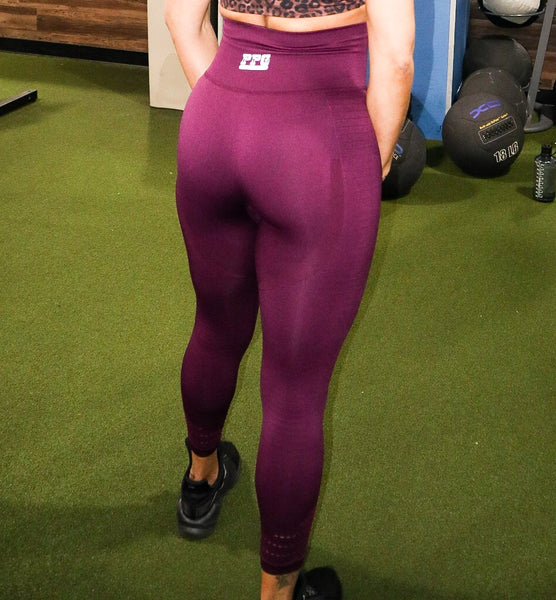 Clean and Comfy Leggings Maroon