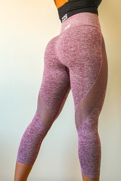 Comfy Capri Leggings Red Blush