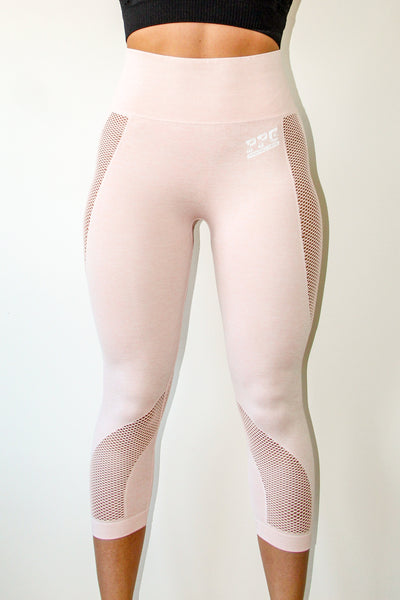 Comfy Capri Leggings Dust Pink