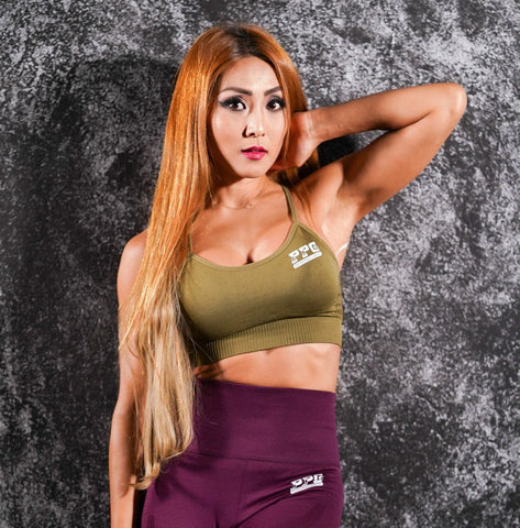 Comfy  Sports Bra - Army Green