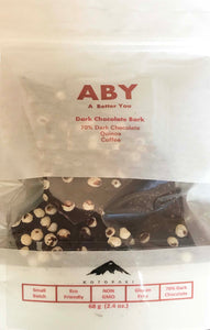 ABY 80% Dark Chocolate Bark with Coffee and Quinoa