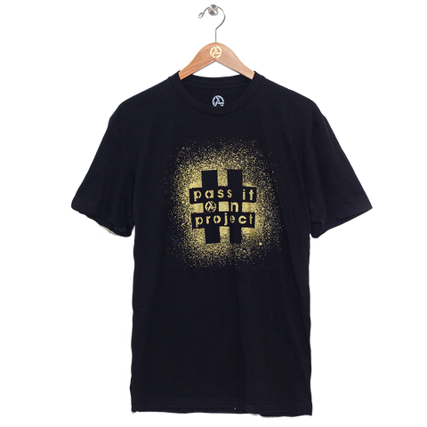 #PASSITONPROJECT Tee - Black & Gold