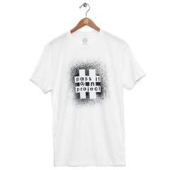 #PASSITONPROJECT Tee - White & Gunmetal