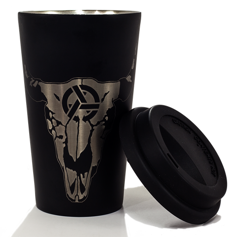 Steel Thermal Wyo Skull Travel Pint